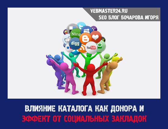 Влияние каталога как донора и эффект от социальных закладок
