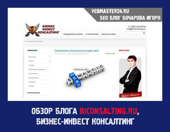 Обзор блога BICONSALTING.RU, Бизнес-Инвест Консалтинг