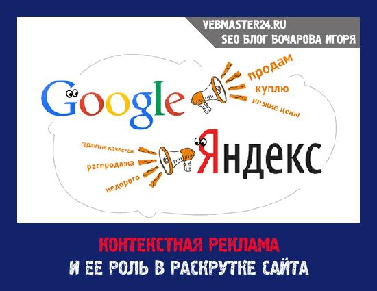 Контекстная реклама и её роль в раскрутке сайта